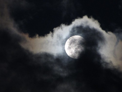 Moon through clouds | by skelton_88