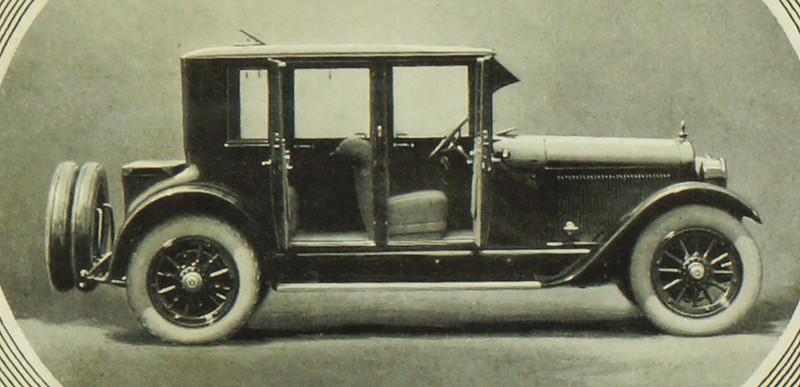 CM059 1922 Lafayette Four Door Coupe Touring Ad Framed DSC04158 crop