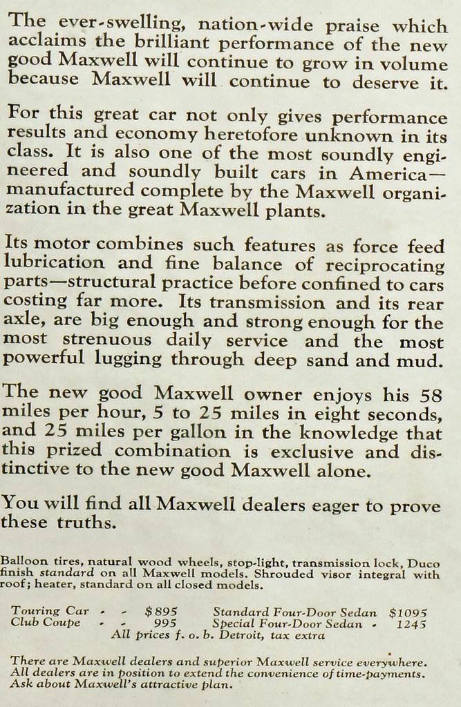 CM051 1925 Maxwell Car Ad Framed DSC04185 crop2