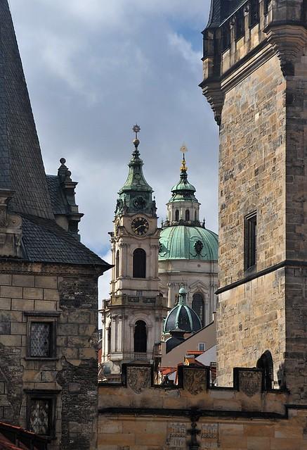 Praha - Chrám sv. Mikuláše z Karlova mostu