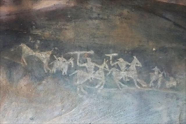 Peintures rupestres de Bhimbetka (Inde)