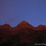 Bridge Mountain at Sunset