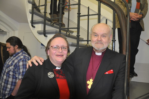 Lis Goddard, Vicar of St James the Less, Pimlico, with Rt Revd  Richard Chartres, Bishop of London | by The National Churches Trust