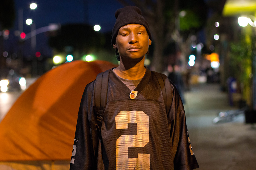 Kevin Hall, who claimed to know homeless man who was shot by LAPD in Skid Row. March 2, 2015
