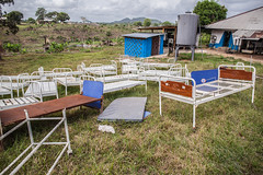 Beds of Ebola Patients