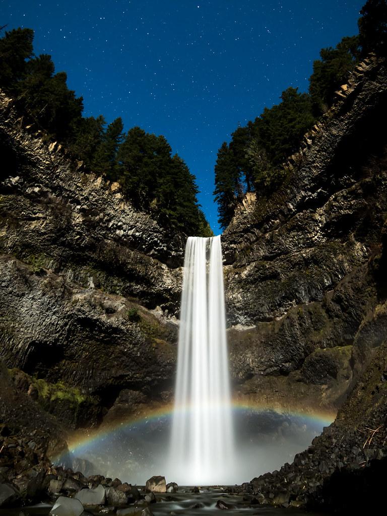 Brandywine Falls at night