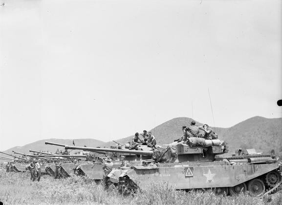 Centurion tanks of the 8th King's Royal Irish Hussars