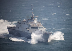 In this file photo, USS Fort Worth (LCS 3) operates off the Korean Peninsula during exercise Foal Eagle in March. (U.S. Navy/MC2 Daniel M. Young)
