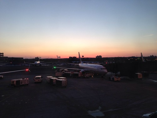 Plane in the dusk, NJ   by Anetq
