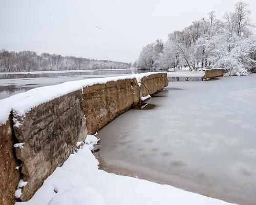winter snow ice landscape frozen newjersey unitedstates nj bicentennialpark milltown farringtonlake eastbrunswick