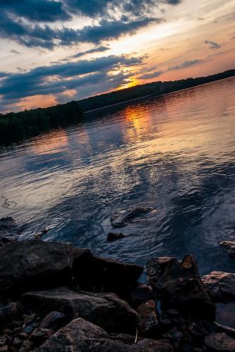 sunset lake landscape dusk scenic moraine waterscape davidsharo