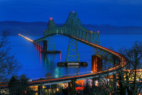 bridge usa oregon astoria bluehour