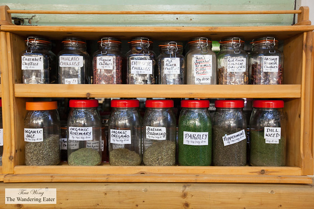 Dried herbs and spices at Cardiff Market