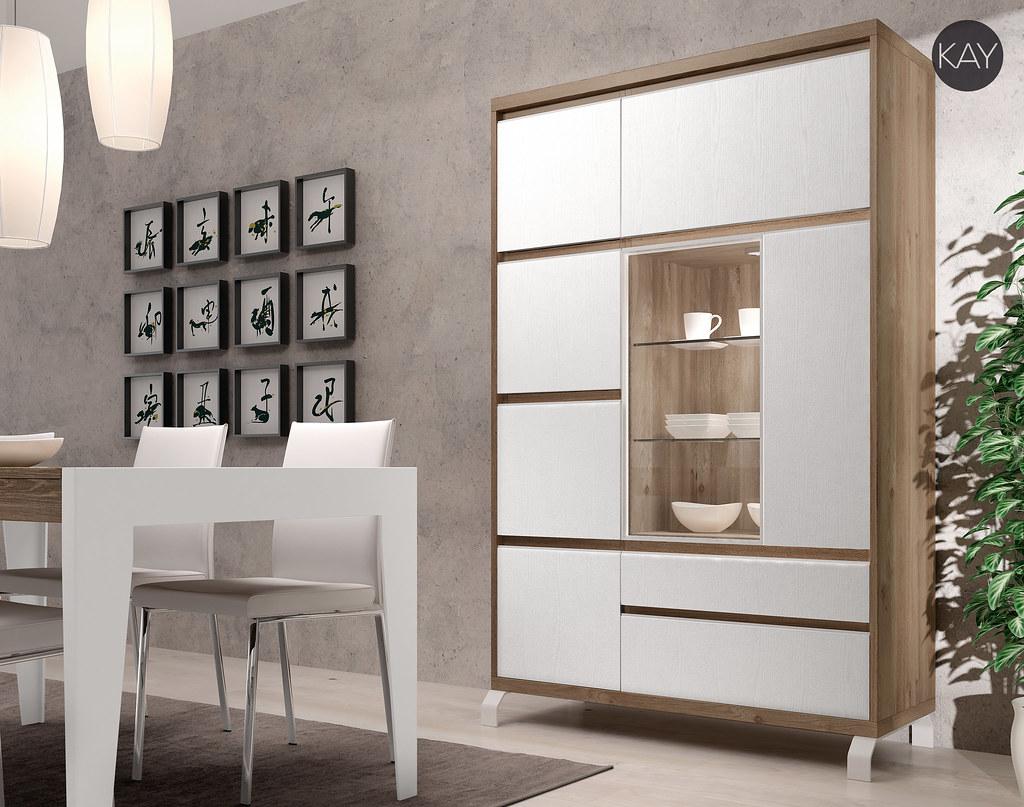 Vitrinas para salon comedor moderno | Colección Kay, vitrina ...