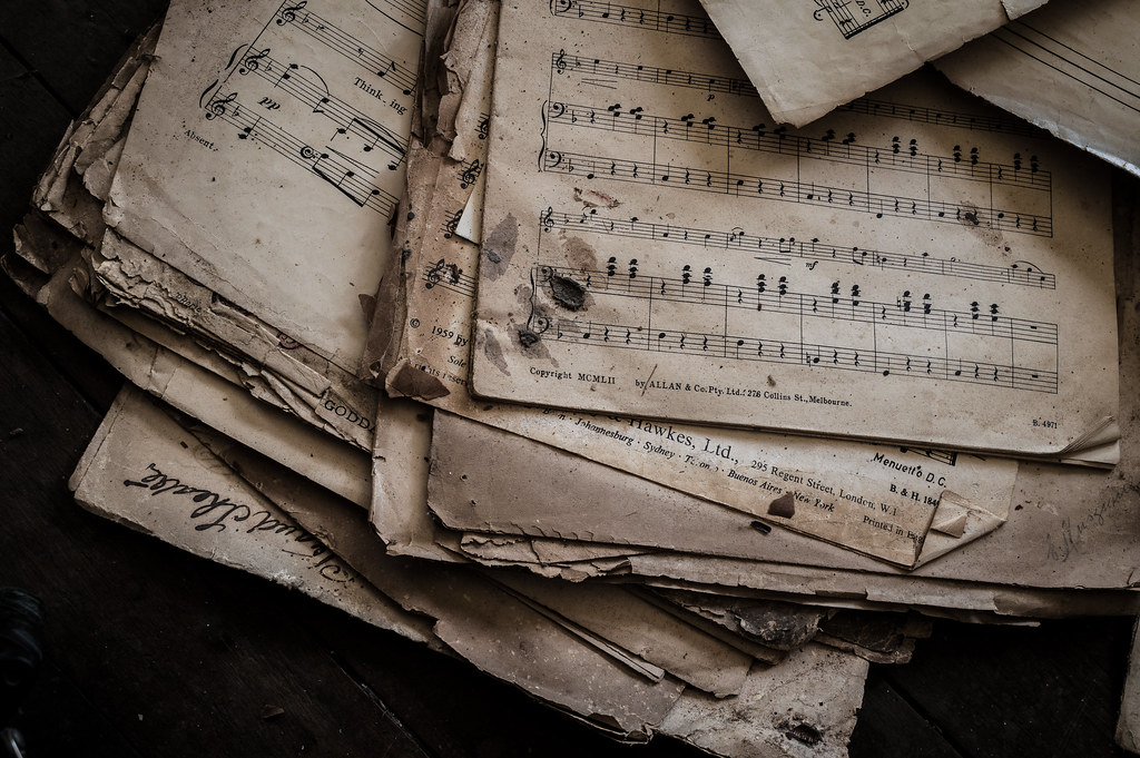 Moyra S Music Piles Of Sheet Music Lay About The Living