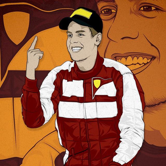 Vettel Commissioned Artwork For Erobet It Vector Illu Flickr