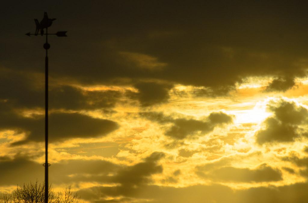 Sunrise over Dorchester Lower Mills April 14, 2015