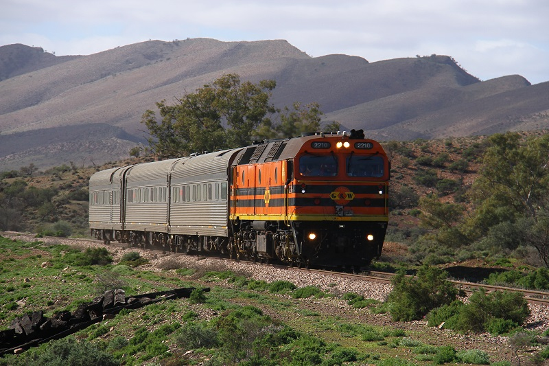 AK train in the Flinders by David Arnold