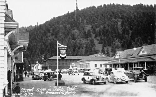 Street Scene at Scotia CA