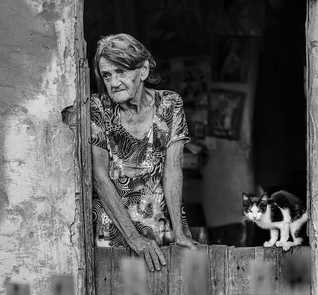 Dona Julieta e seu gato