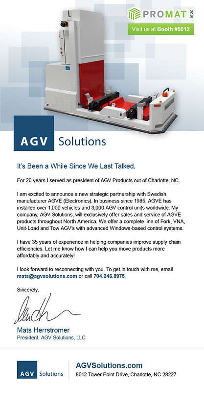 AGV Solutions Custom Email