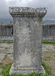 Volubilis: dedication to the flaminica Aemilia Sextina Viennensis