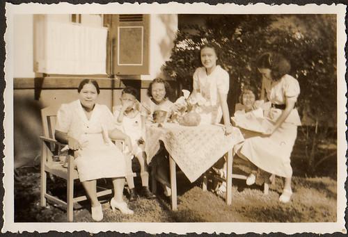 Van Waeterschoodt family in Manggarai, Meester Cornelis in the Dutch East Indies in the thirties