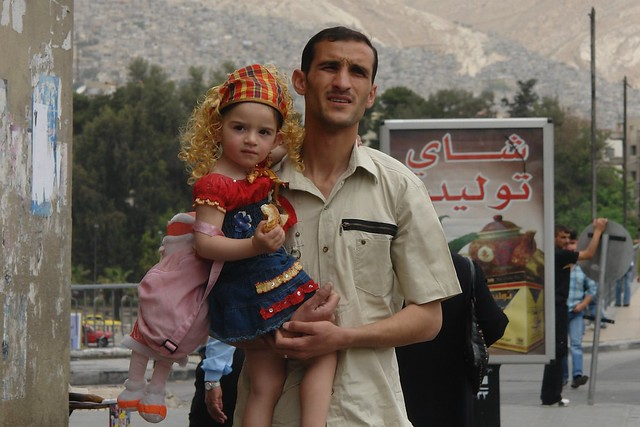 Syrian girl in Damascus