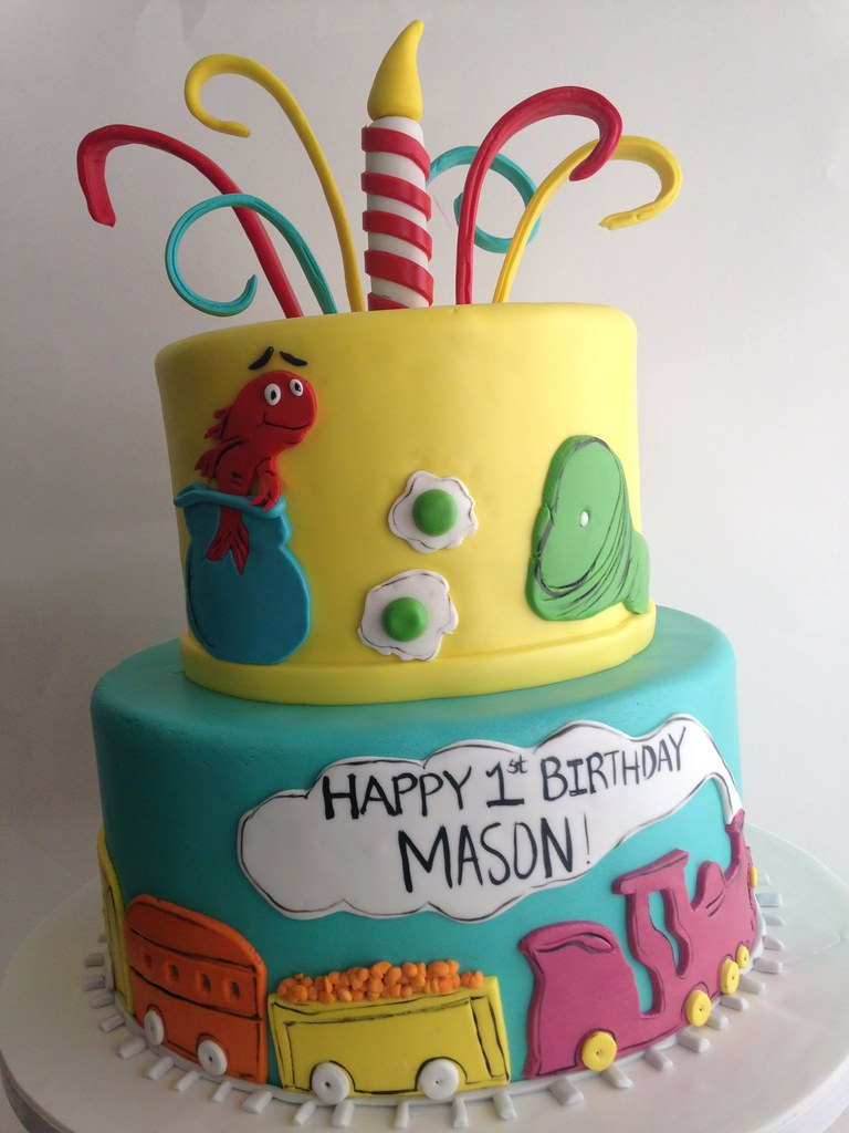 Sensational Dr Seuss Cake 3473 Dr Seuss Birthday Cake With Choo Ch Flickr Funny Birthday Cards Online Alyptdamsfinfo