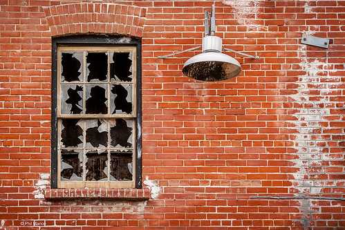 Damaged window - Brickworks, Toronto | by Phil Marion