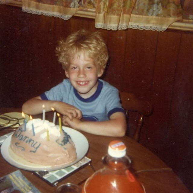 me. my birthday. sometime in the 1970s Lincoln park new Jersey.