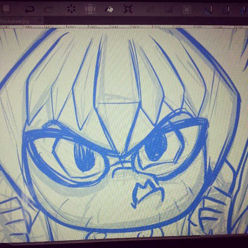 Making this face in the mirror so I can give it to Agnes. #boulderandfleet | by Jerzy Drozd