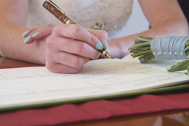 16/30: Signing her life away