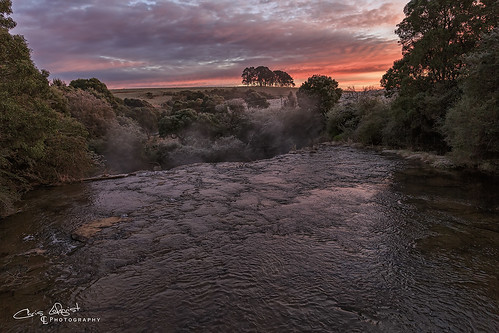dorrigo nsw australia river creek frost sunrise