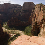 Scout Lookout view to Angels Landing