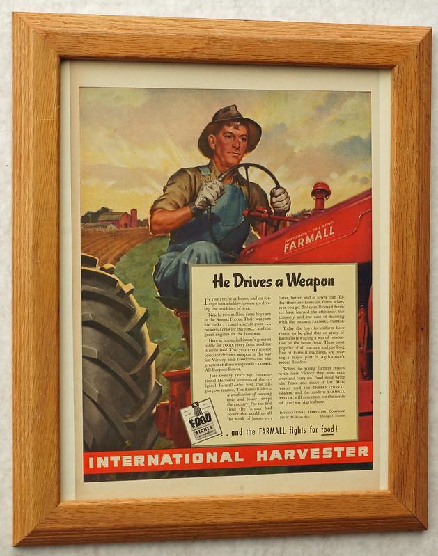 CM069 1944 International Harvester Ad Framed DSC04403