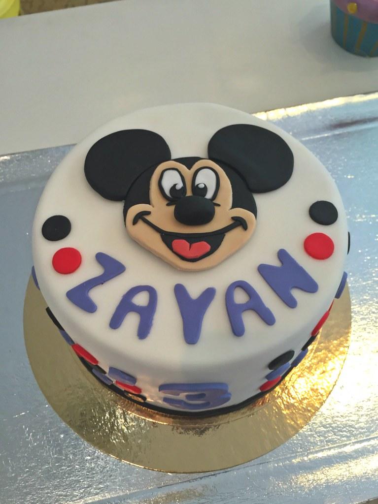 Phenomenal Mickey Birthday Birthday Cake For Zayans 3Rd Cat Flickr Funny Birthday Cards Online Elaedamsfinfo