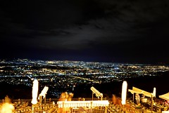 Night view of Islamabad Capital Territory from The Monal Restaurant, Pir Sohawa.