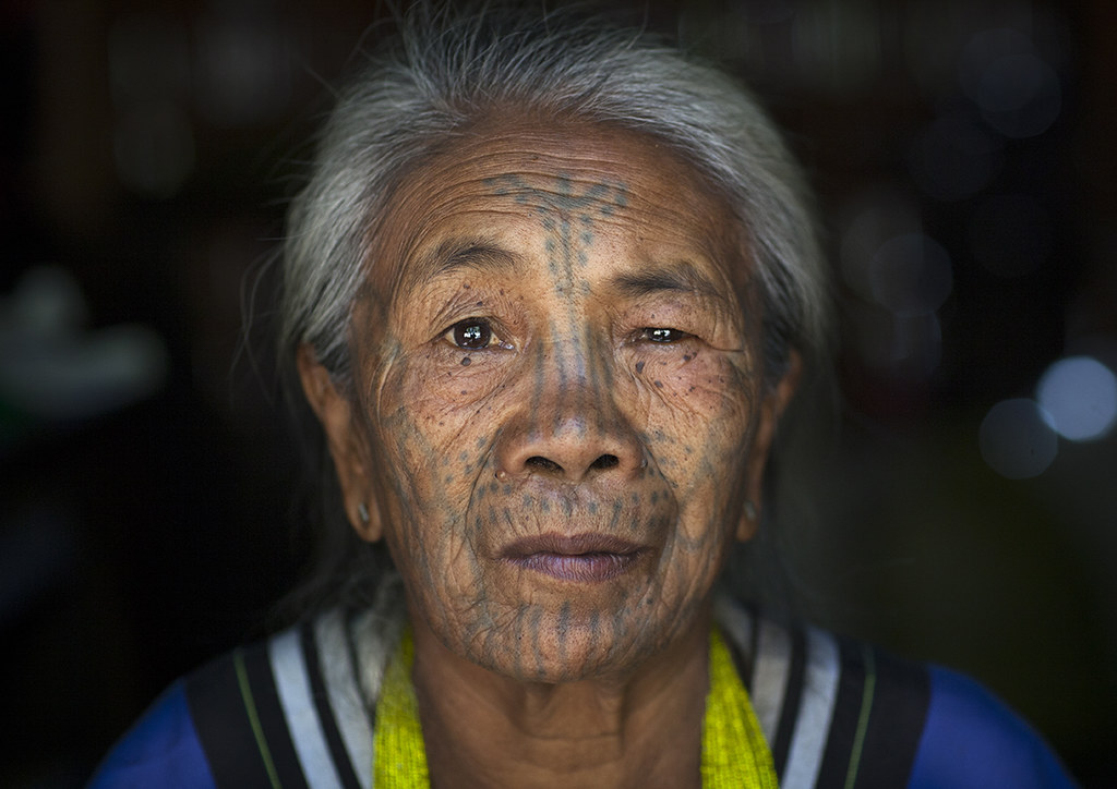 f01fd4c51 ... Tribal Chin Woman From Muun Tribe With Tattoo On The Face, Mindat,  Myanmar