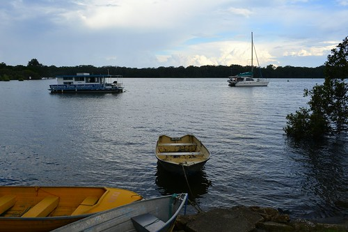 landscape boats australia estuary nsw lateafternoon waterscape midnorthcoast nambuccariver