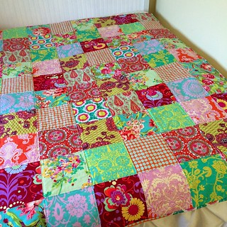 Amy Butler quilt front.