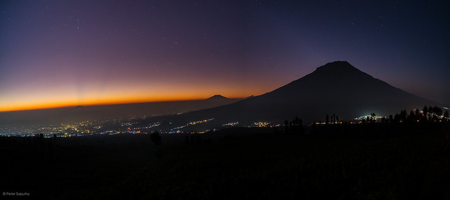 Sunrise with Mt. Sumbing view