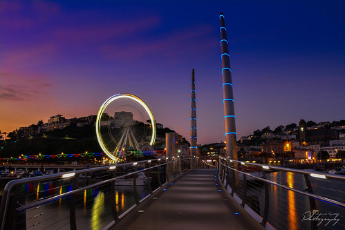 uk bridge sunset sky reflection water night marina reflections skyscape landscape evening coast nikon colorful long exposure nightscape harbour ngc devon slowshutter torquay mkphotography d5200 waterenvirons margaritakphotography