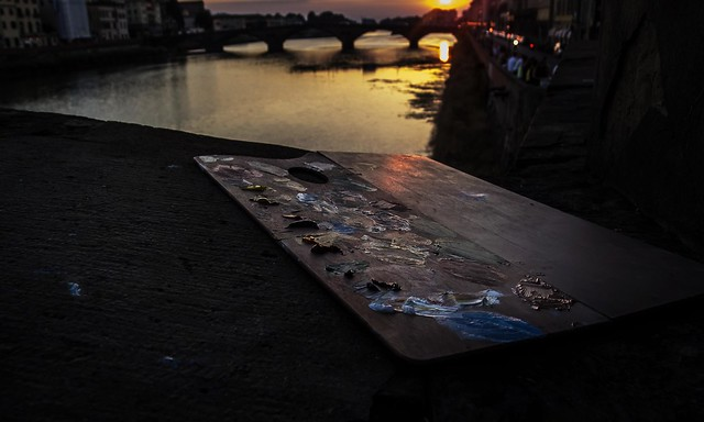 Tavolozza su Ponte Vecchio uno