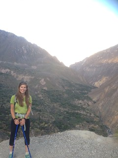 Abby at Colca Canyon