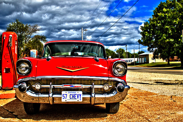 Route 66 - 57 Chevy HDR
