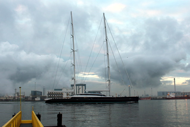 Superyacht in Rotterdam