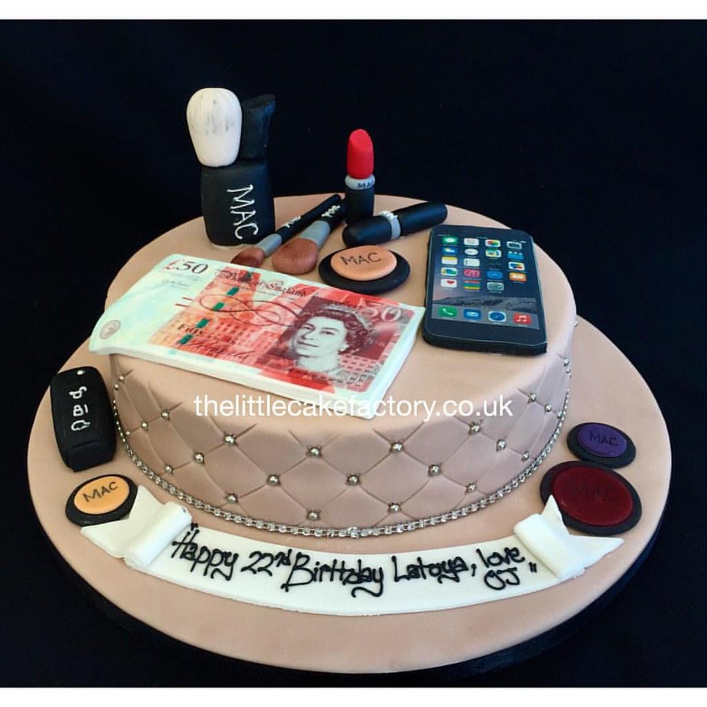 Surprising Sugarlicious Mac Make Up Cake Mac Makeup Maccosmetics Flickr Personalised Birthday Cards Sponlily Jamesorg