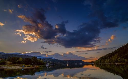 nikond7000 tokina1116mm landscape sunset sofia pancharevo dam bulgaria blue clouds