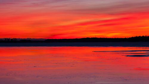meri luonto landscape auringonlasku jää talvi outdoor iltarusko taivas red afterglow aurinko ice nature sea sky sun sundown sunset winter espoo